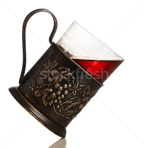 Tea üveg klasszikus terv retro fehér Stock fotó © maxsol7