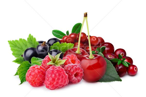 Raspberry, blackcurrant,cherry,lingonberry,cranberry Stock photo © maxsol7