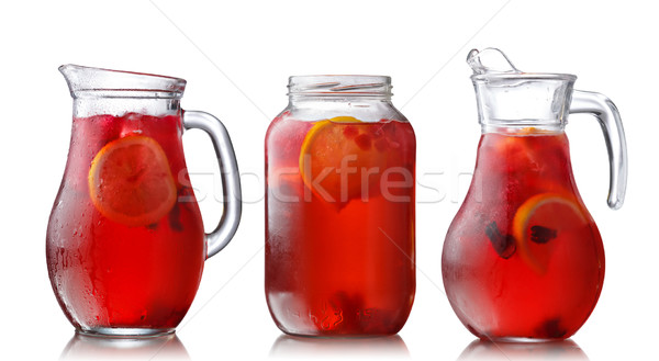 Jugs of hibiscus tea Stock photo © maxsol7