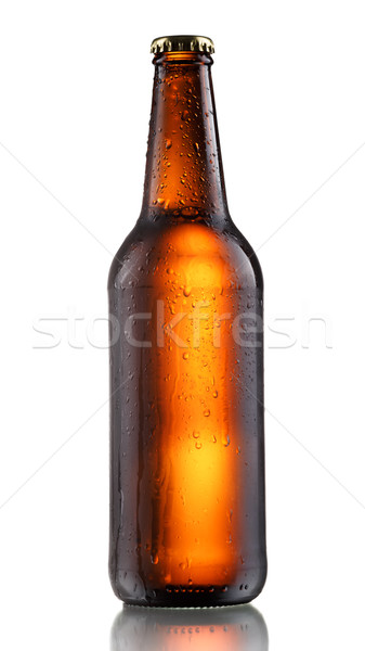 Dark beer bottle Stock photo © maxsol7