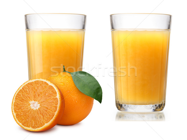 Glasses with fresh orange juice Stock photo © maxsol7