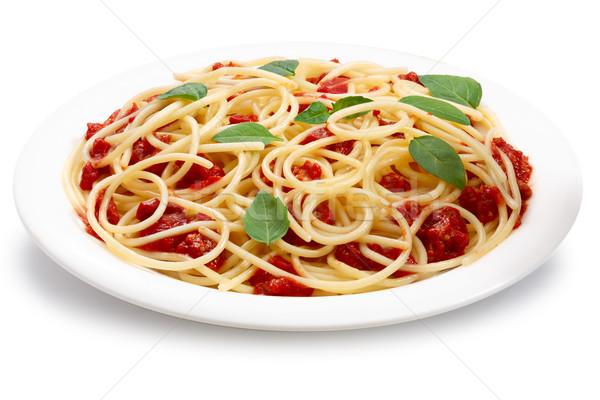 Spaghetti with bolognese sauce Stock photo © maxsol7