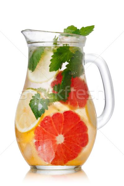 Photo stock: Pamplemousse · limonade · citron · baume · verre