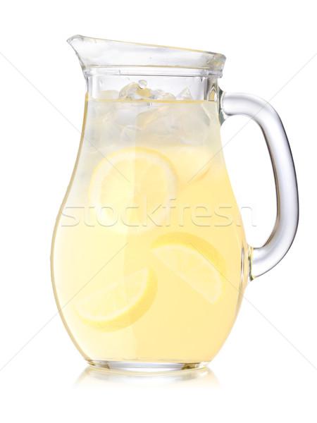 Eisgekühlt Limonade Krug groß trinken Stock foto © maxsol7