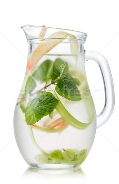 Ravent limonata nane su sağlıklı beslenme Stok fotoğraf © maxsol7