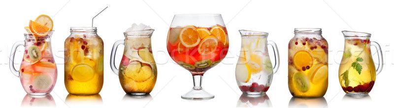 Foto stock: Coleção · diferente · bebidas · verão · festa · óculos