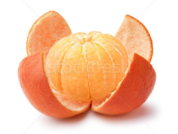 Mandarin pelé ensemble fruits Photo stock © maxsol7