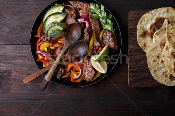 Beef fajitas Stock photo © maxsol7