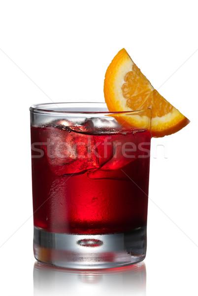 Negroni alcoholic cocktail Stock photo © maxsol7