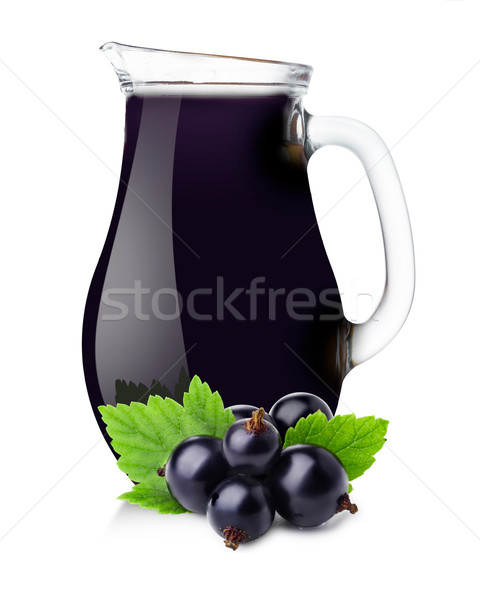 Stock photo: Pitcher of blackcurrant juice