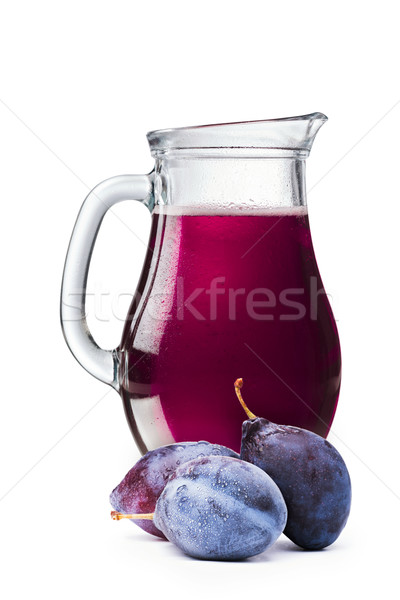 Plum juice in a pitcher Stock photo © maxsol7