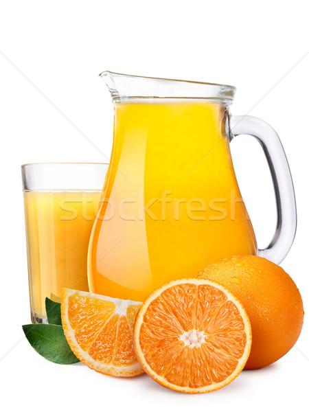 Pitcherwith highball of orange juice Stock photo © maxsol7