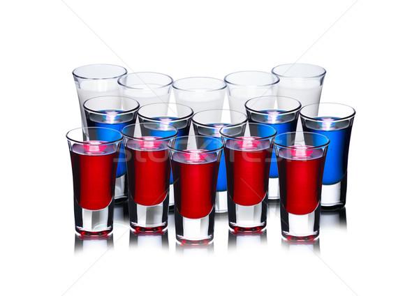 Russian flag cocktail concept Stock photo © maxsol7