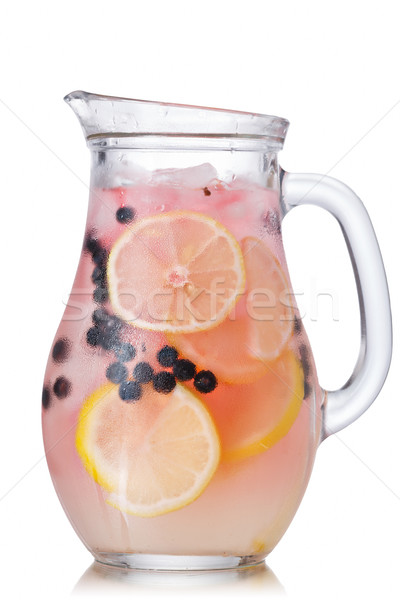Blueberry lemonade jug Stock photo © maxsol7