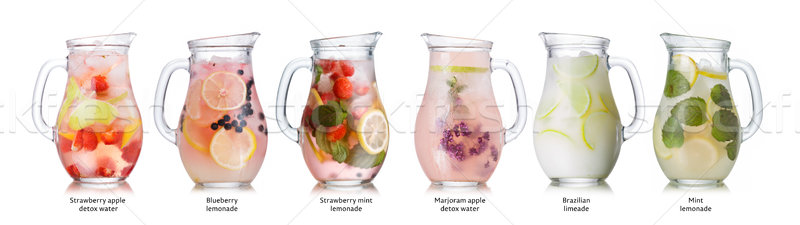 Stock photo: Summer drinks collection