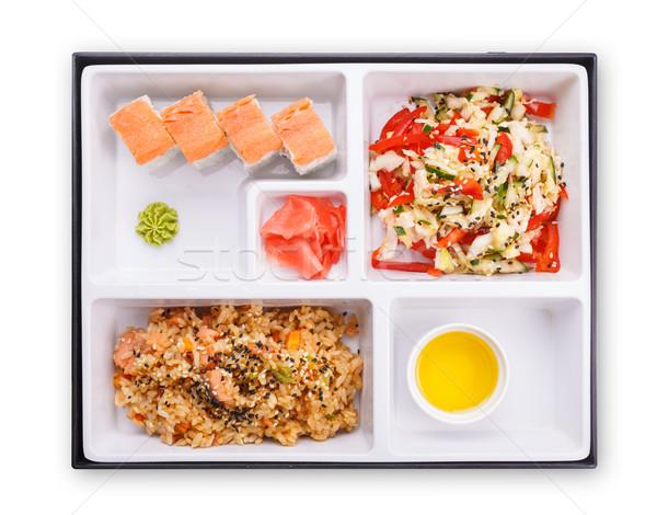 Japanese pranzo finestra top view plastica Foto d'archivio © maxsol7