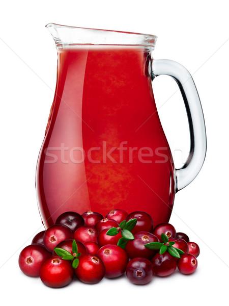 Pitcher of cranberry juice Stock photo © maxsol7