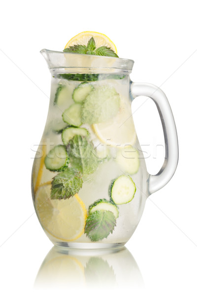 Sparkling cucumber lemonade Stock photo © maxsol7