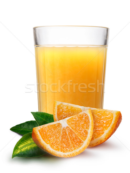 Glass with fresh orange juice Stock photo © maxsol7
