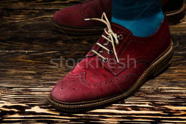 Renkli ayakkabı zemin çorap adım Stok fotoğraf © maxsol7