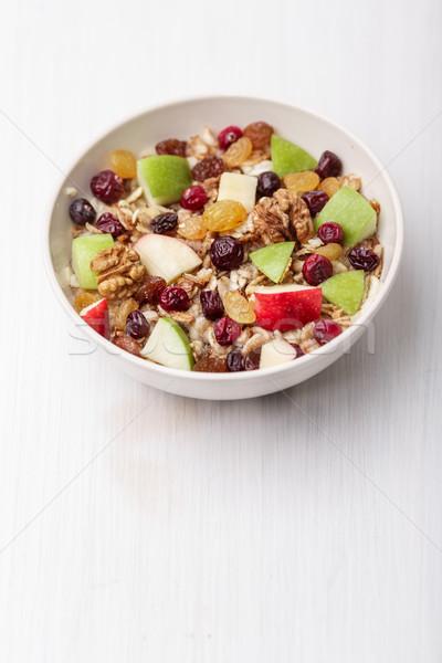 Passas de uva maçã cereal secas Foto stock © maxsol7