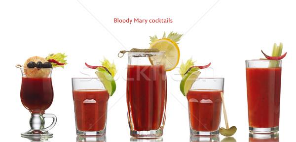 Sangrento cocktails coleção isolado branco coquetel Foto stock © maxsol7