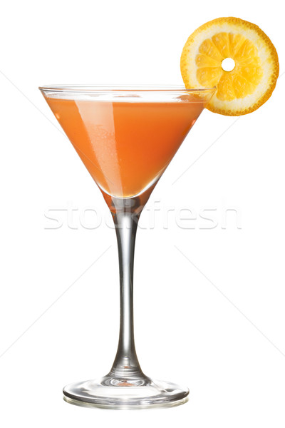 Aap klier cocktail glas ingericht orange slice Stockfoto © maxsol7