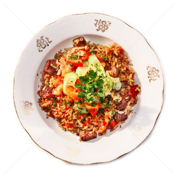 Carne carne tradicional oriental cozinha saudável Foto stock © maxsol7