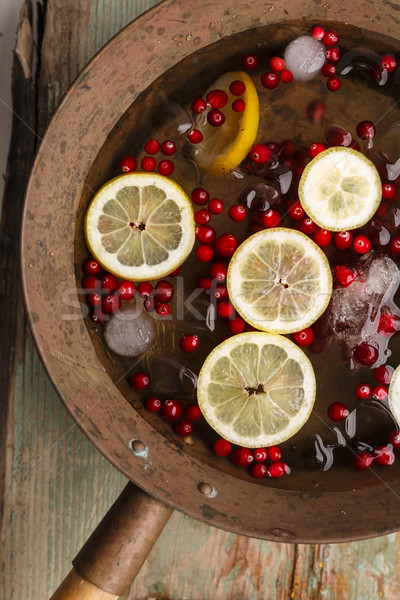 Cranberry lemon punch Stock photo © maxsol7