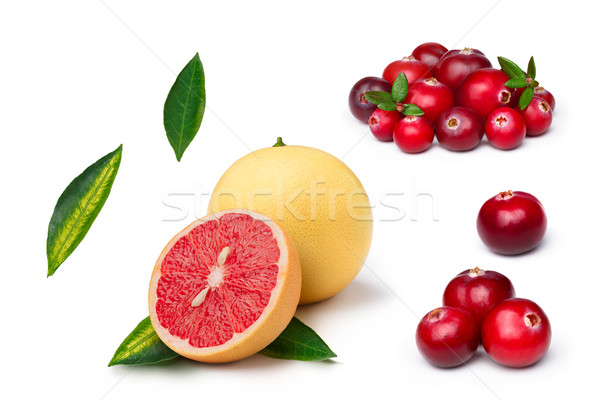 Pink grapefruit with cranberry Stock photo © maxsol7