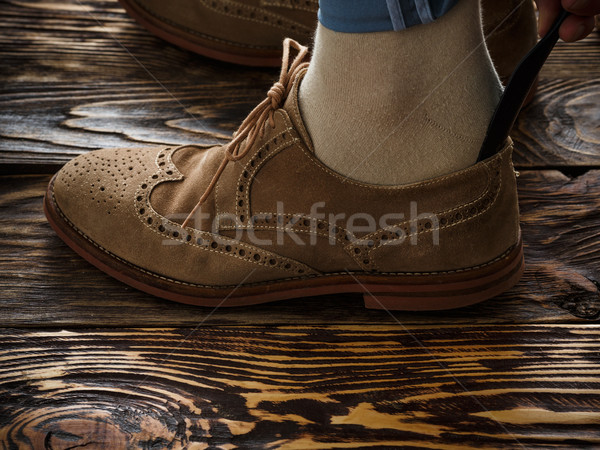 Suede brogue shoe Stock photo © maxsol7