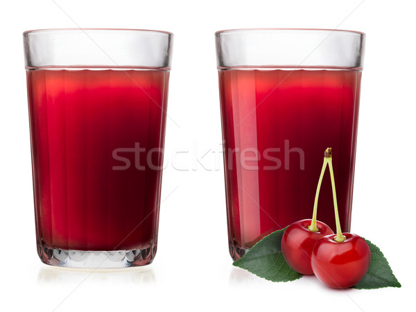 Glasses with cherry juice Stock photo © maxsol7