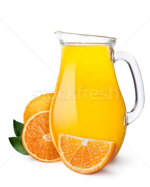 Suco de laranja jarro laranjas separado inteiro Foto stock © maxsol7