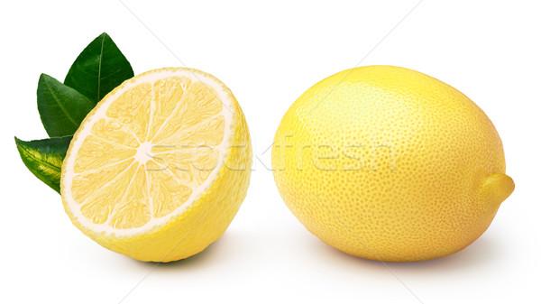 Whole and halved lemons Stock photo © maxsol7