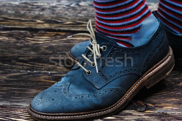 Azul zapatos calcetines Foto stock © maxsol7