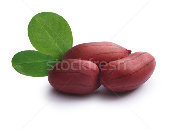 Raw peanuts,shelled with leaves Stock photo © maxsol7