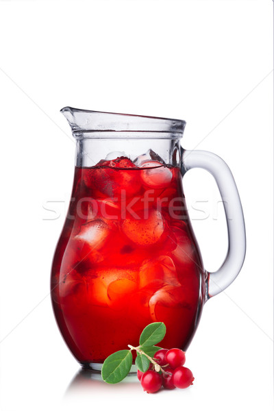 Fruit-drink from cowberry Stock photo © maxsol7