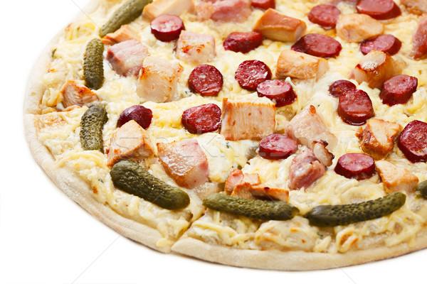 Pizza poulet viande Photo stock © maxsol7