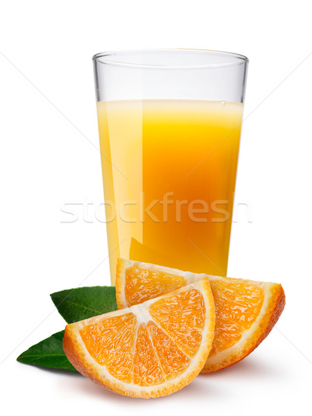 Glass with fresh orange juice Stock photo © maxsol7