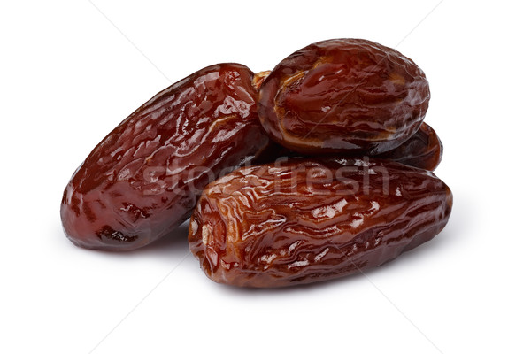 Stock photo: Dried dates isolated
