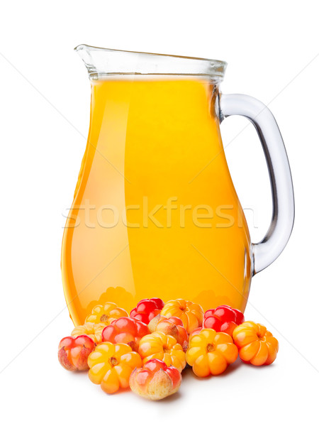 Pitcher of cloudberry smoothie Stock photo © maxsol7