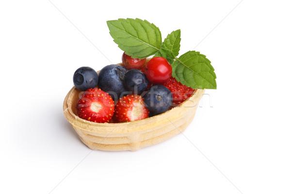 Dessert with wild berries Stock photo © maxsol7