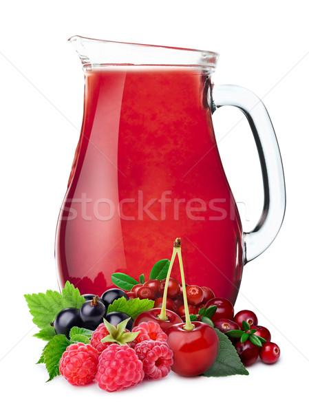 Pitcher of berry juice Stock photo © maxsol7