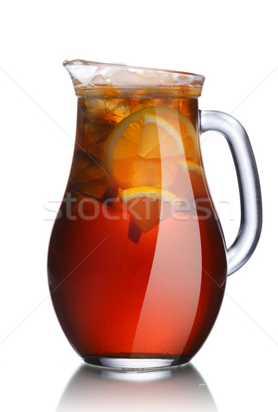 Jug of lemon iced tea  Stock photo © maxsol7