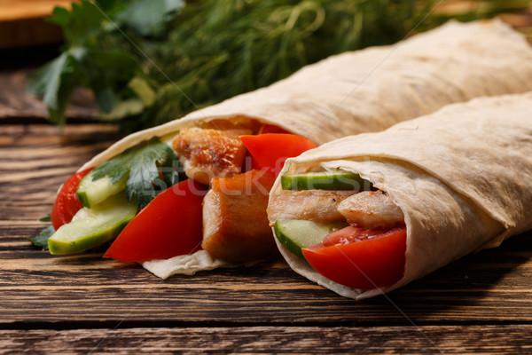 Traditioneel kip groenten tabel diner Stockfoto © maxsol7