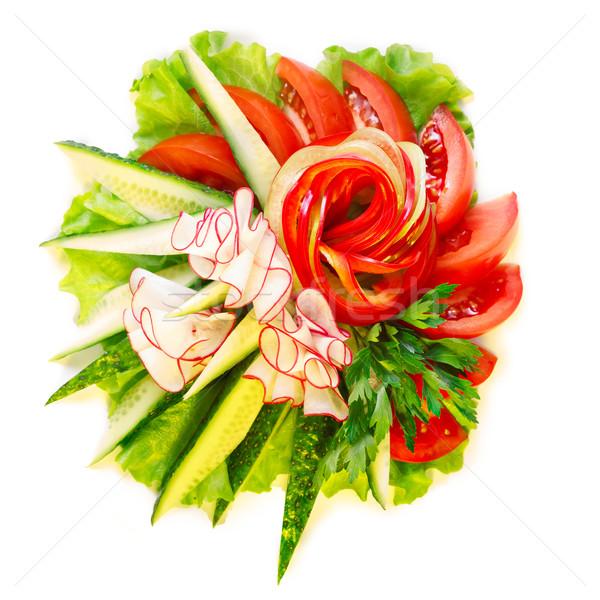 野菜 サラダ 孤立した 白 食品 背景 ストックフォト © maxsol7