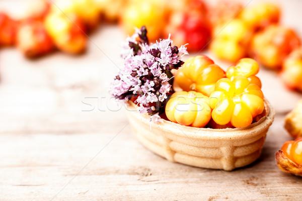 Cloudberry tart Stock photo © maxsol7