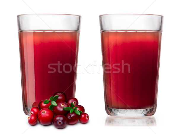 Glasses with fresh cranberry juice Stock photo © maxsol7