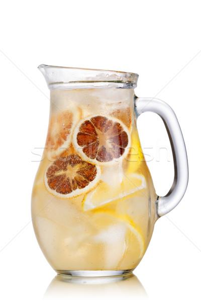 Limonádé kancsó pezsgő szénsavas jeges víz Stock fotó © maxsol7