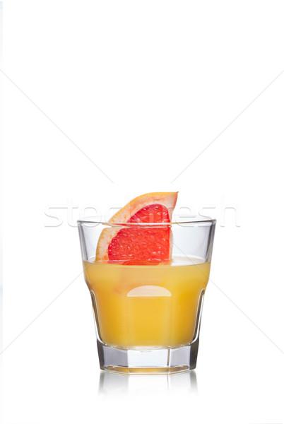 Paradijs cocktail glas ingericht grapefruit plakje Stockfoto © maxsol7